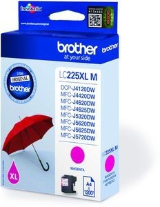 BROTHER LC-225XLM Tinte magenta hohe Kapazität 1200 Seiten 1er-Pack