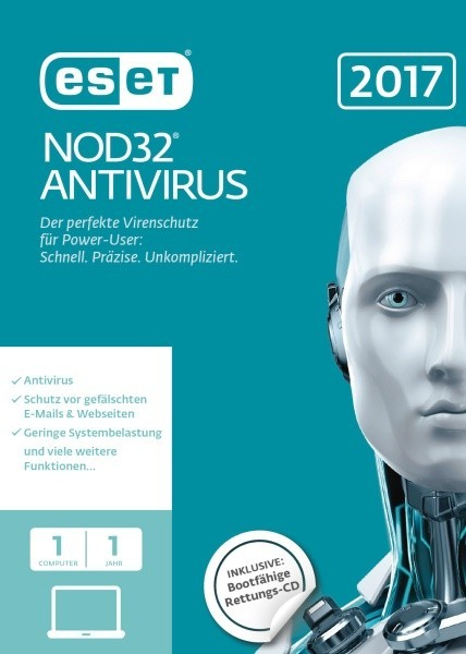 ESET NOD32 Antivirus 2017 Edition 1 User (FFP) Box