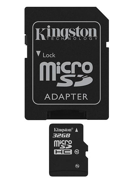 Kingston microSDHC 32GB Kit Class 10