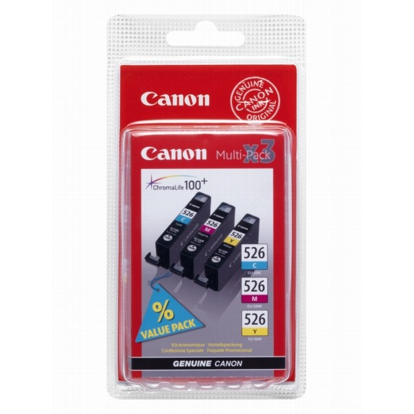 Canon CLI-526 C/M/Y Pack