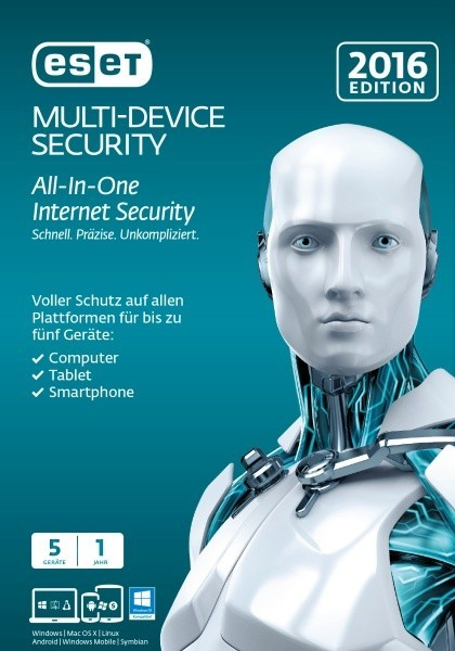 ESET Multi Device Security 2016 5 User 1 Jahr