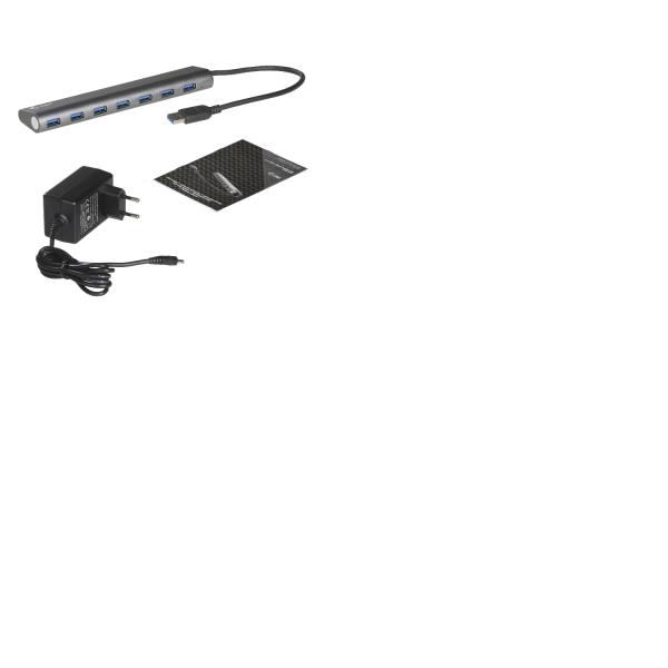 I-TEC USB 3.0 Metal Charging HUB 7port port mit externem Netzadapter