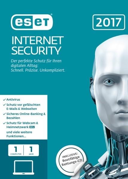 ESET Internet Security 2017 Edition 1 User (FFP) Box